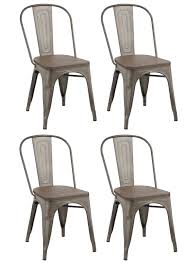 Wood And Metal Dining Chairs Trent Austin Design Linneus Industrial Metal Solid Wood Dining