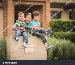 howie at home mixed race children their asian mother stock photo 288308636