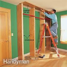 How To Take Cabinets Off The Wall How To Build A Classic Floor To Ceiling Bookcase Family Handyman