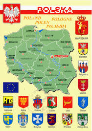 Map Poland World Come To My Home 1157 Poland The Map And The Flag Of The