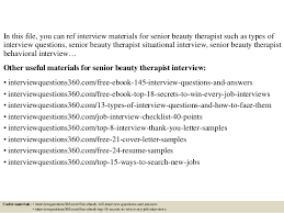 top 10 senior beauty therapist interview questions and answers