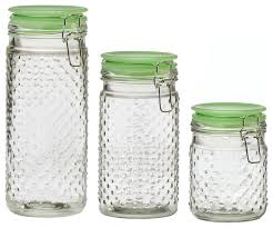 amici home emma jade hobnail canisters set of 3 contemporary