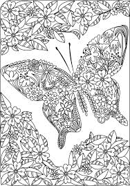butterfly coloring pages adults children books