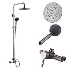 Shower System Bathroom Faucet Set With Rain Shower Head And - Faucet sets bathroom 2