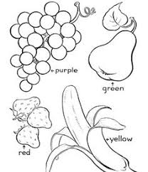 food coloring page fruit worksheets kindergarten and teaching