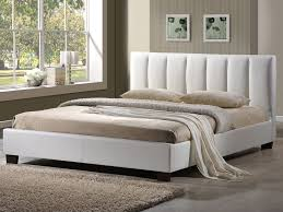 4ft pulsar small double white faux leather bed frame