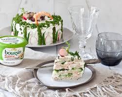 boursin cuisine ail et fines herbes recette sandwich cake crevettes et boursin cuisine ail fines herbes