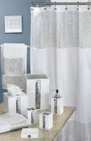 Silver Shower Curtains Sinatra Silver Bling Shower Curtain Sequins Silver U003d Fabulous