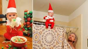 baby on the shelf farther transforms his baby into on the shelf