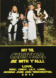 our 2015 star wars family christmas card surviving mommy