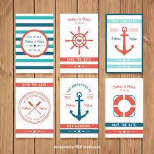 nautical wedding invitations nautical wedding invitation collection vector free