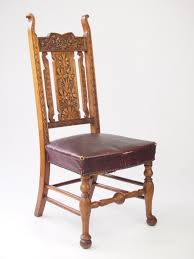 Antique High Back Chairs Antique Carved Oak High Back Chair Hall Chair Antiques Atlas