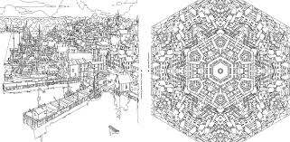 trendy ideas coloring book fantastic cities amazing