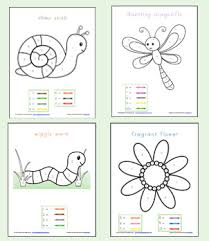 color by number preschool worksheets worksheets and