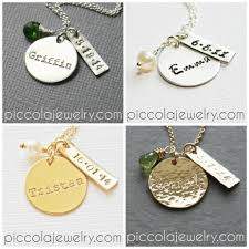 Child Name Necklace Personalized Silver Baby Name Necklace With Birthdate New Mom