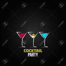 martini glass logo cocktail party glass design menu background royalty free cliparts