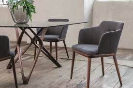 Fabric Dining Chair Low Back Armrests Upholstered Dining Chairs When Style Meets Ergonomics