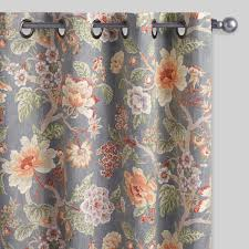 Brown Floral Curtains Drapery Floral Curtains World Market