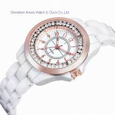 white ceramic bracelet images Aimes white ceramic fashion timepiece aimes women 39 s white ceramic jpg