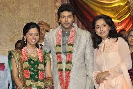 kollywood all dressed up for jayam ravi s wedding reception