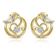 stylish earrings single cut diamond gold plated 925 silver new stylish earrings