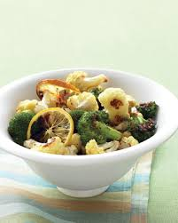 rachael ray roasted broccoli roasted broccoli and cauliflower with lemon and garlic
