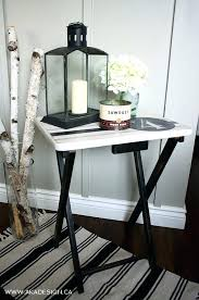 Tray Table Ikea Side Table Side Table Tv Tray Makeover With Drawers Ikea Side