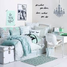 Teal And White Bedroom Uptown Room Available On Dormify Com Dormify Essentials