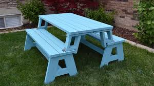 Free Plans For Picnic Table Bench Combo by Convertible Picnic Table And Bench Her Tool Belt