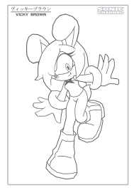sonic characters coloring pages vicky brown color page by animax cartoon on deviantart