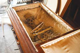 coffins for sale tries to sell antique coffin on craigslist with a skeleton
