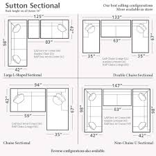 home design dimensions home decor cozy sectional sofa dimensions sutton u shaped together
