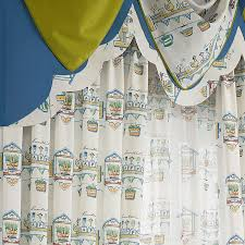 Boys Drapes Printing Children Window Curtains White Thick Girls Bedroom