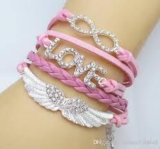 love braided bracelet images Friendship crystal infinity bracelets love you braided charms jpg