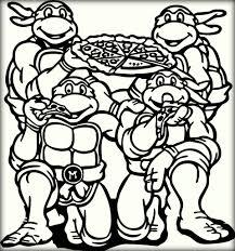 charming beautiful printable cartoon ninja turtles coloring pages