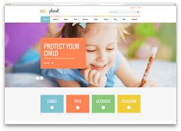 web templates website templates directory listing website theme kidsplanet kindergarten website template 1 web design