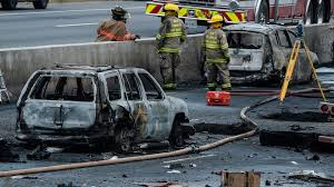 3 dead after fiery 14 vehicle crash on ontario u0027s highway 400 ctv