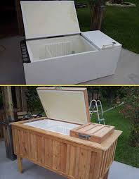 Rustic Backyard Ideas Refrigerator Into Rustic Backyard Cooler Amazing Diy