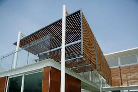 gate exterior design glass window and wood wall small modern