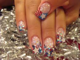 star spangled acrylic nails