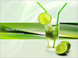 mojito cocktail powerpoint template u0026 backgrounds id 0000001007