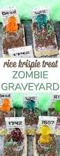 rice krispie treats for thanksgiving easy halloween dessert rice krispie treats zombie graveyard