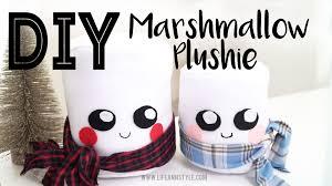 diy cute marshmallow plushies great gift idea ann le youtube