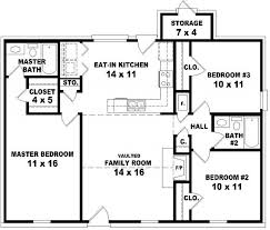 House Plans And Designs For 3 Bedrooms Three Bedroom Two Bath House Homes Floor Plans