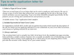 awesome collection of sample application letter for bank clerk job