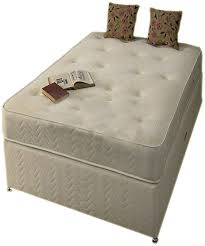 White Small Double Bed Frame by White Small Double Damask Memory Foam Divan Bed Set Includes Base