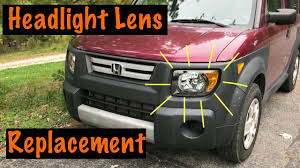 New Honda Element 2015 Headlight Lens Replacement Honda Element Youtube