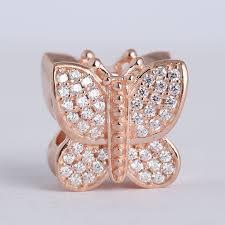 butterfly pandora bracelet images Fits pandora charm bracelet 925 sterling silver jewelry rose jpg