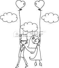 dessin mariage photos de mariage de dessin animé clip libres de droits