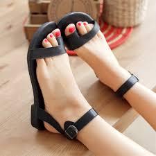 new genuine leather women sandal fashion ankle strap flip flops